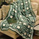 Z077 Crochet PATTERN ONLY Pretty Petals Clover Afghan Pattern
