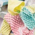Z083 Crochet PATTERN ONLY Bubble Gum Child's Hooded Jacket & Blanket Pattern