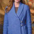 Z281 Crochet PATTERN ONLY Wide Shawl Collar Weekend Cardigan Pattern