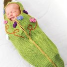 Z283 Crochet PATTERN ONLY Darling Sweat Pea Pod Baby Cocoon Pattern