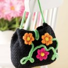 Z285 Crochet PATTERN ONLY Garden Party Floral Purse Pattern