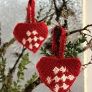 Z289 Crochet PATTERN ONLY Christmas Heart Shapped Gift Pocket Ornament Pattern