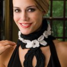 Z290 Crochet PATTERN ONLY Neck Lace Neck Warmer in Contemporary Styles Pattern