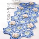 Z293 Crochet PATTERN ONLY Water Lily Table Runner Scarf Pattern