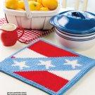 Z294 Crochet PATTERN ONLY Star-Spangled Hot Pad Trivet Pattern