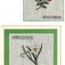 Z300 Cross Stitch PATTERN ONLY Chrysanthemum & Narcissus Flower Motif Charts