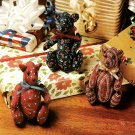 Z302 Sewing PATTERN ONLY Miniature Mini Calico Bears Toy Doll Pattern