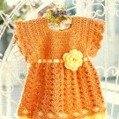 Z305 Crochet PATTERN ONLY Sweet Summer Flower Baby Dress Pattern