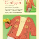 Z326 Crochet PATTERN ONLY Sunflowers Cardigan Sweater Pattern