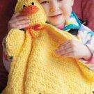 Z328 Crochet PATTERN ONLY Duck Travel Buddy Blankie Pattern