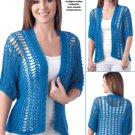 Z331 Crochet PATTERN ONLY Marina Cardigan Sweater Pattern