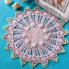 Z337 Crochet PATTERN ONLY Sand Castles Doily Spring Flower Pattern