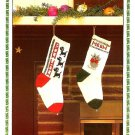 Z344 Knit PATTERN ONLY Bow Wow Puppy and Meow Kitty Christmas Stocking Pattern
