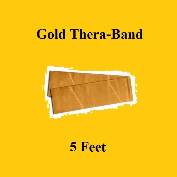 1 Gold Thera-Band, Theraband Resistance Exercise Band