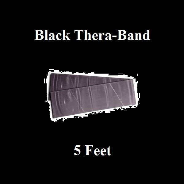1 Black Thera-Band, Theraband Resistance Exercise Band Individual Pack