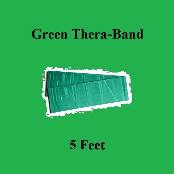 1 Green Thera-Band, Theraband Resistance Exercise Band Individual Pack