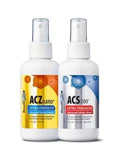 Total Body Detox 4 oz Kit with ACZ Nano Zeolite and ACS 200 Advanced Cellular Silver