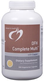 DFH Complete Multi with Copper (Iron-Free) - 180 Vegetarian Capsules - Designs for Health