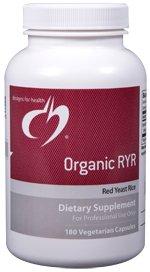 Organic RYR (Red Yeast Rice) - 180 Vegetarian Capsules - Designs for Health