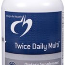 Twice Daily Multi - 120 Vegetarian Capsules - Designs for Health