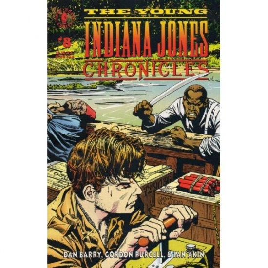 Young Indiana Jones Chronicles #8 (Comic Book) - Dark Horse Comics - by Dan Barry