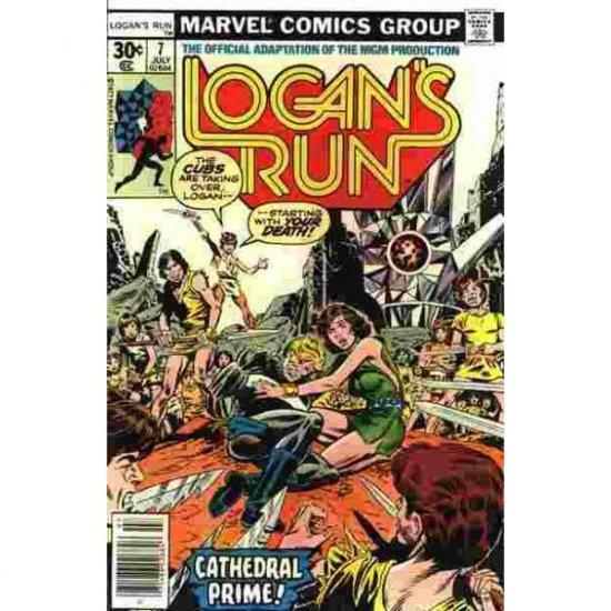 Logan's Run, Vol. 1 #7 (Comic Book) - Marvel Comics - John David Warner, Klaus Janson