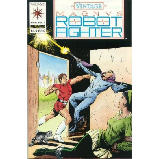 Vintage Magnus Robot Fighter #4 (Comic Book) - Valiant - Reprints Gold Key Magnus 4000 AD #16 (1963)