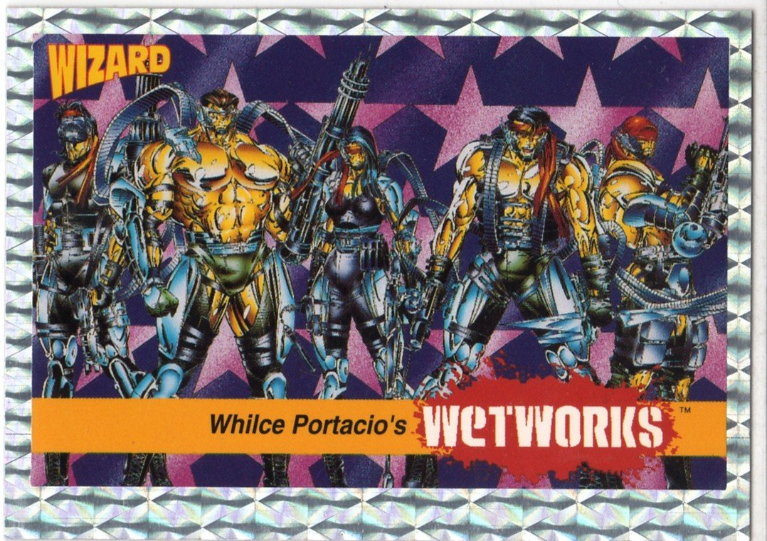 """Image Series 1 #8: Whilce Portacio's """"Wetworks"""" Trading Card (Wizard)"""