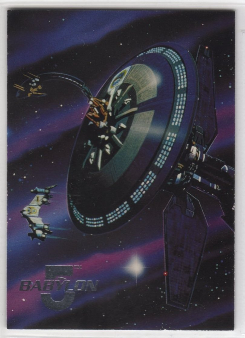 Babylon 5 Series One Space Gallery 4 of 8 Chase Card (Fleer Ultra) - Earth Force One