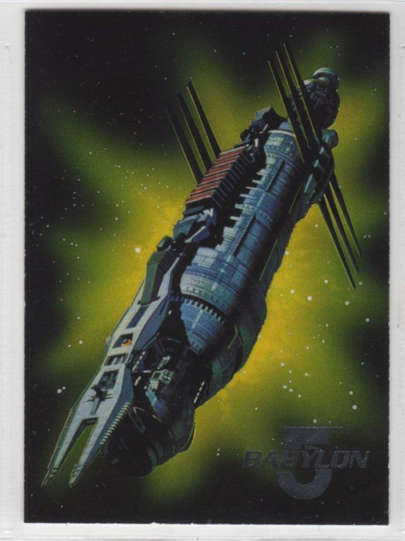 Babylon 5 Series One Space Gallery 7 of 8 Chase Card (Fleer Ultra) - Station