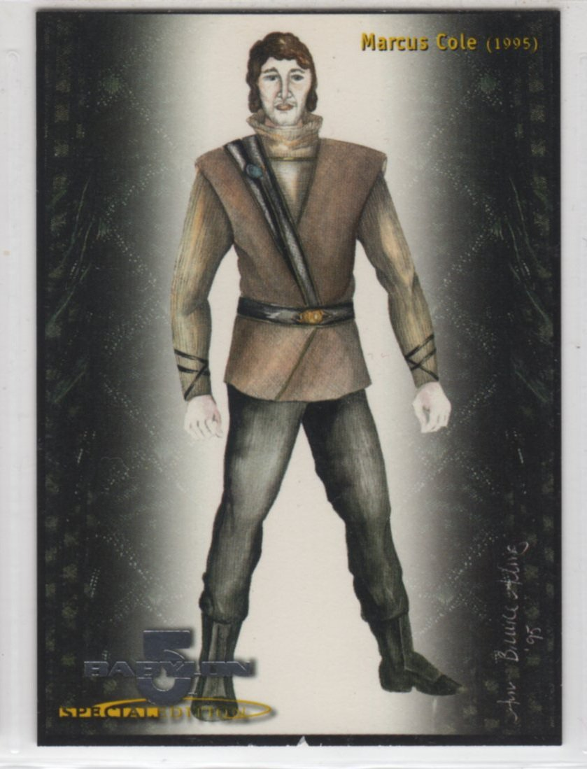 Babylon 5 Special Edition Costumes Chase Card C11 (SkyBox) - Marcus Cole