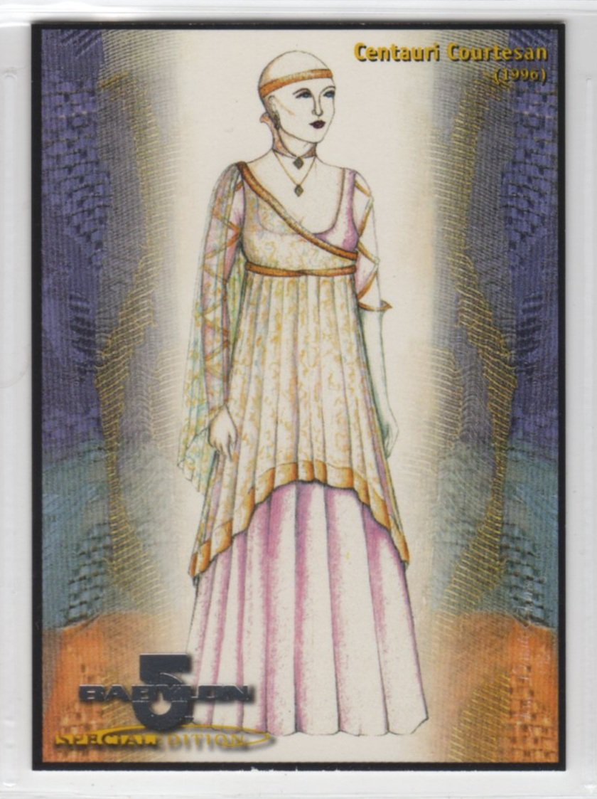 Babylon 5 Special Edition Costumes Chase Card C17 (SkyBox) - Centauri Courtesan