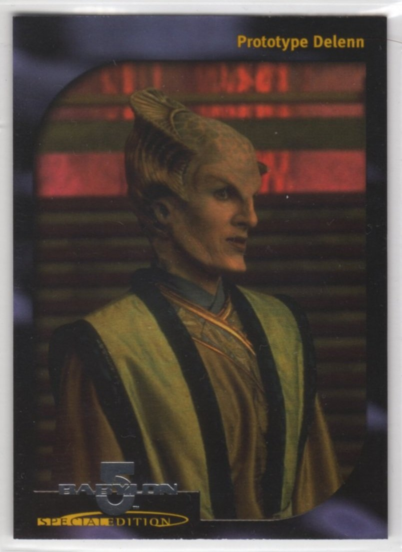 Babylon 5 Special Edition Faces of Delenn Chase Card D1 (SkyBox)