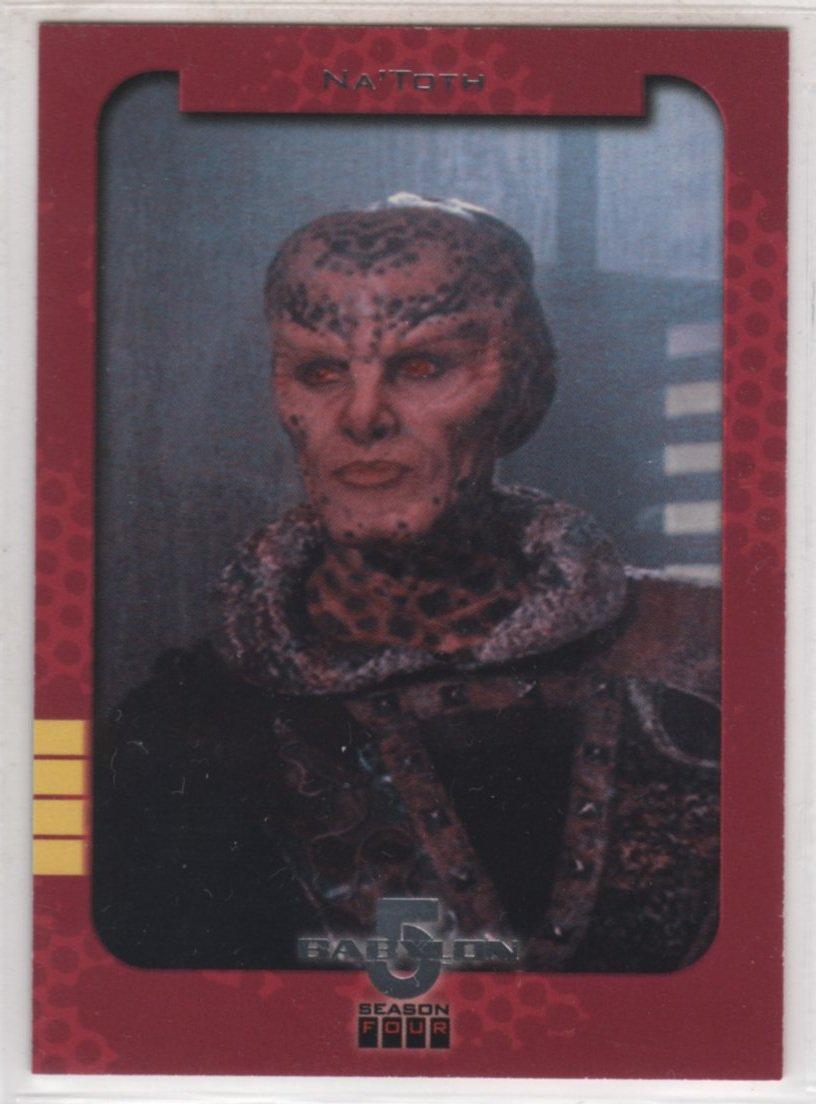 Babylon 5 Season 4 Chase Card S1 (SkyBox) - Season One Retrospective featuring Na'Toth