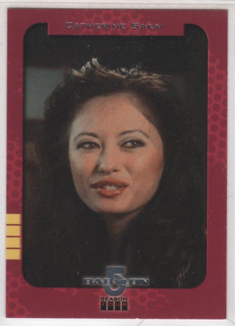 Babylon 5 Season 4 Chase Card S2 (SkyBox) - Season One Retrospective featuring Catherine Sakai