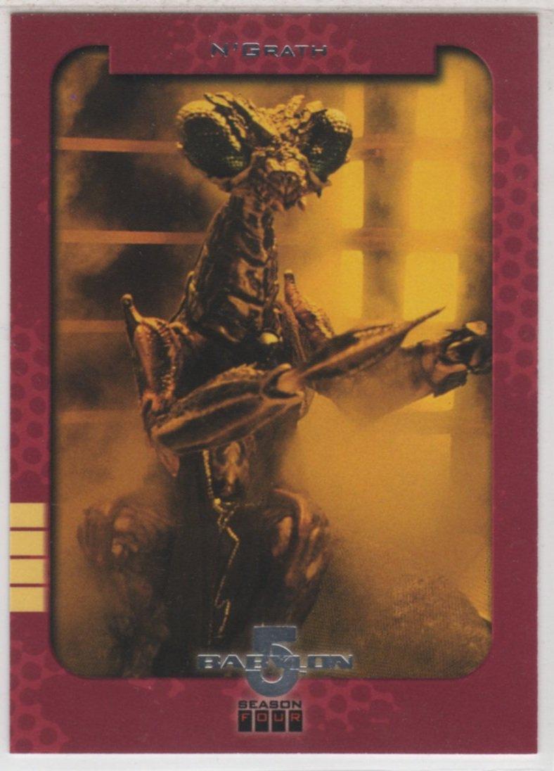Babylon 5 Season 4 Chase Card S12 (SkyBox) - Season One Retrospective featuring N'Grath