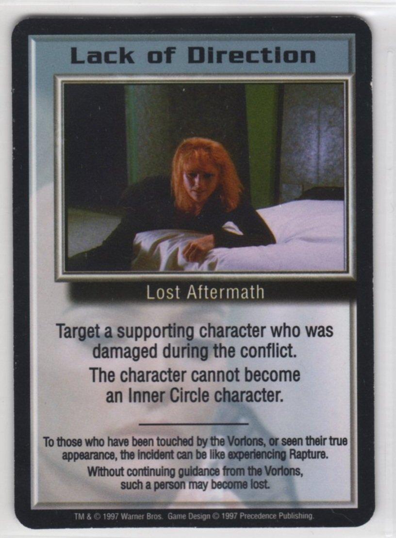 Babylon 5 CCG Promo Card (Precedence) - Lack of Direction