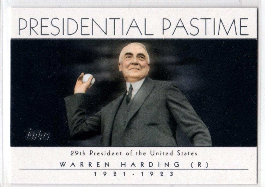 2004 Presidential Pasttime PP-28 (Topps) - Warren Harding - Baseball, Trading Card
