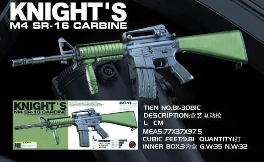 3081C M16A4 Green Stock Knight Rifle