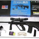 BE-M8 Airsoft Full Size Steyr Aug Style with Scope Case Lot