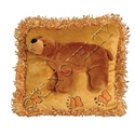 Brown Bear Kids Plush Pillow