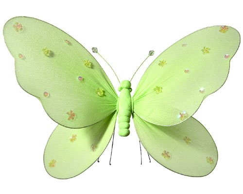 Fabric Butterflies - Girls Room Decor - Green - Medium