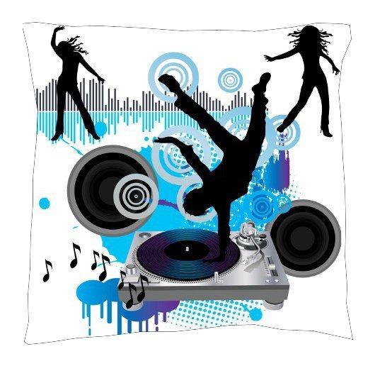 Dance Music Pillow - Throw Pillow
