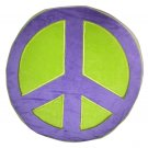 Peace Sign Plush Pillow - Purple/Green