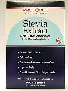Protocol for Life Balance Stevia Extract 100 Packets