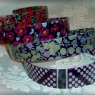 $58 J CREW-Plastic Glossy Floral HEADBAND Lot of 4-NEW