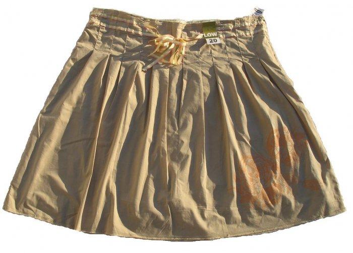 OLD NAVY Tan Ribbon Skirt Orange Rose 18 NWT $29RV