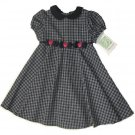 BONNIE JEAN Blue Plaid Dress Hearts  Sz 6 NWT $40