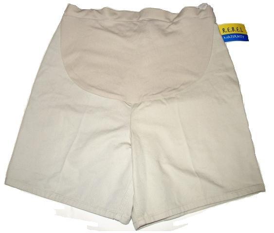 REBEL Tan Denim Maternity Shorts Sz 10 NEW
