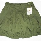 MISS BISOU Green Khaki Utility Bubble Skirt Sz 11 NEW $48
